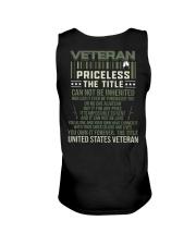 Veteran Priceless The Title  Unisex Tank thumbnail