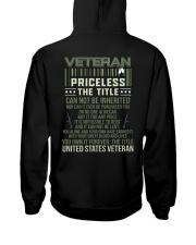Veteran Priceless The Title  Hooded Sweatshirt thumbnail