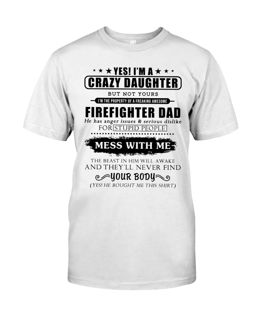 Daughter Of Awesome Firefighter-182U1D31107 Classic T-Shirt