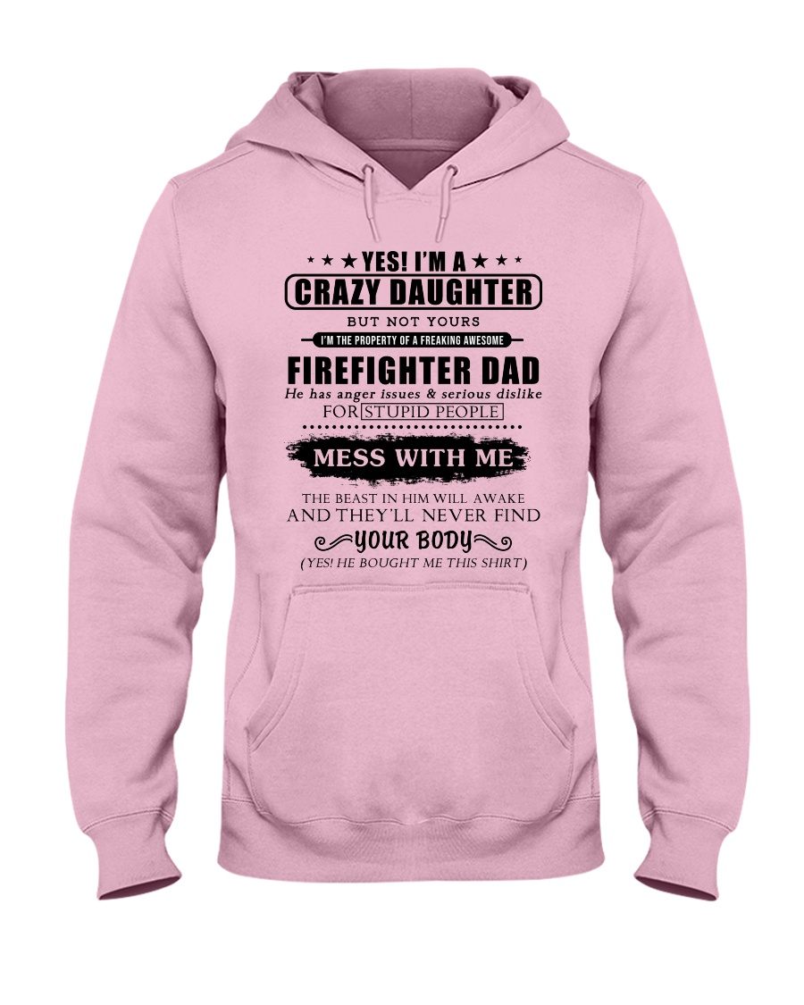 Daughter Of Awesome Firefighter-182U1D31107 Hooded Sweatshirt