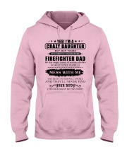 Daughter Of Awesome Firefighter-182U1D31107 Hooded Sweatshirt thumbnail