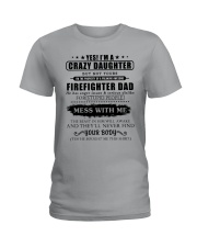 Daughter Of Awesome Firefighter-182U1D31107 Ladies T-Shirt tile