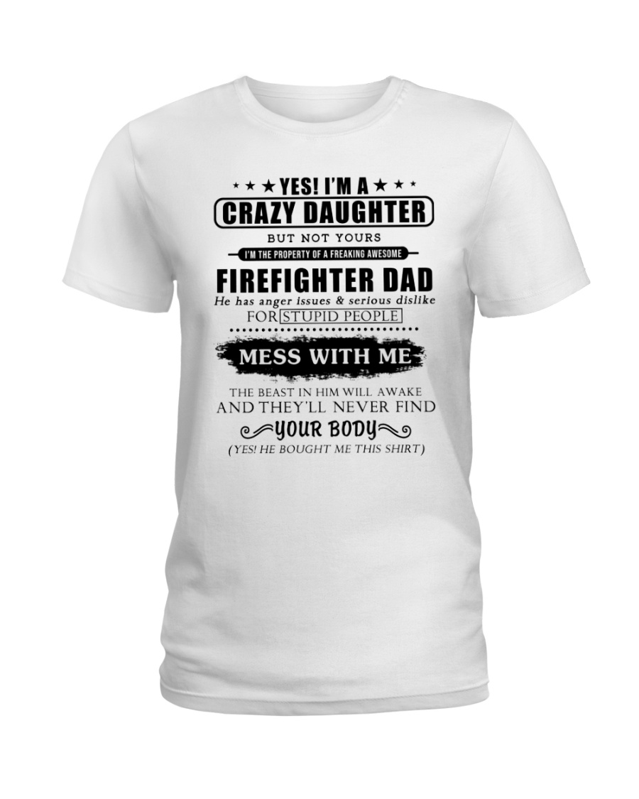 Daughter Of Awesome Firefighter-182U1D31107 Ladies T-Shirt