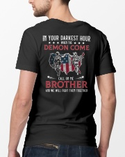 In Your Darkest Hour When The Demon Come Call Me Classic T-Shirt lifestyle-mens-crewneck-back-5