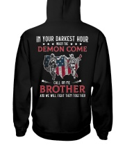 In Your Darkest Hour When The Demon Come Call Me Hooded Sweatshirt tile