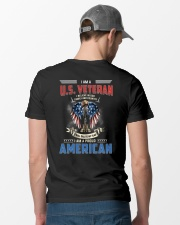 I Am A Proud Veteran American Classic T-Shirt lifestyle-mens-crewneck-back-6