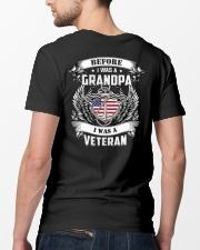 Before I Was A Grandpa I Am Veteran Classic T-Shirt lifestyle-mens-crewneck-back-5