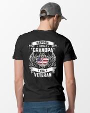 Before I Was A Grandpa I Am Veteran Classic T-Shirt lifestyle-mens-crewneck-back-6