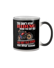 You Don't Get Old When You Stop Riding  Color Changing Mug tile