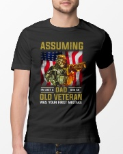 I'm Just A Dad And A Old Veteran  Classic T-Shirt lifestyle-mens-crewneck-front-13
