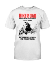 BIKER DAD - MIGHT BE THE BLACK SHEEP OF THE FAMILY Classic T-Shirt thumbnail