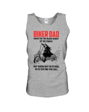 BIKER DAD - MIGHT BE THE BLACK SHEEP OF THE FAMILY Unisex Tank thumbnail