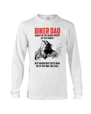 BIKER DAD - MIGHT BE THE BLACK SHEEP OF THE FAMILY Long Sleeve Tee thumbnail