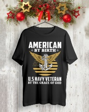 US Navy Veteran By The Grace Of God Classic T-Shirt lifestyle-holiday-crewneck-front-2