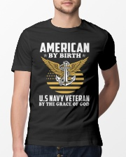 US Navy Veteran By The Grace Of God Classic T-Shirt lifestyle-mens-crewneck-front-13