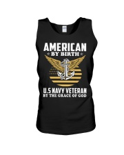 US Navy Veteran By The Grace Of God Unisex Tank thumbnail