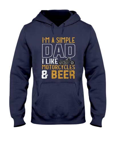 I'M A SIMPLE DAD - I LIKE MOTORCYCLES AND BEER