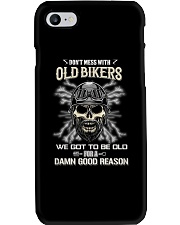 Don't mess with OLD BIKER Phone Case thumbnail