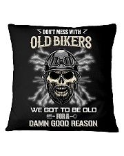 Don't mess with OLD BIKER Square Pillowcase thumbnail
