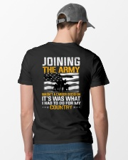 Joining The Army Wasn't A Career Decision Classic T-Shirt lifestyle-mens-crewneck-back-6