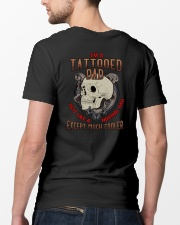 TATTOOED DAD MUCH COOLER SKULL Classic T-Shirt lifestyle-mens-crewneck-back-5