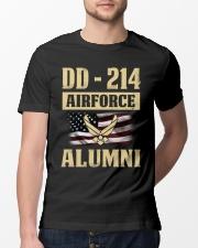 DD - 214 Air Force Alumni Classic T-Shirt lifestyle-mens-crewneck-front-13
