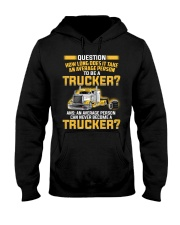 An Average Person Can Never Become A Trucker Hooded Sweatshirt thumbnail