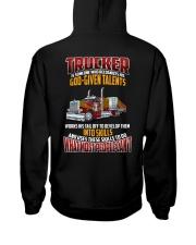 Trucker Clothes -Trucker god-given talents Hooded Sweatshirt back