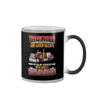 Trucker Clothes -Trucker god-given talents Color Changing Mug thumbnail