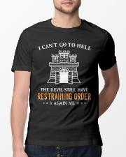 Still Restraining Order Again Me-Combat Engineer  Classic T-Shirt lifestyle-mens-crewneck-front-13