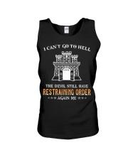 Still Restraining Order Again Me-Combat Engineer  Unisex Tank thumbnail