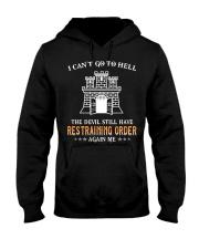 Still Restraining Order Again Me-Combat Engineer  Hooded Sweatshirt thumbnail
