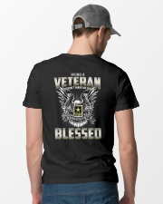 Being A Veteran Make Me Blessed Classic T-Shirt lifestyle-mens-crewneck-back-6