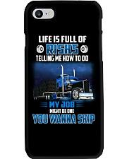 18 Wheels - Trucker - Life is full of risks Phone Case thumbnail