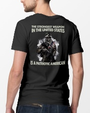The Strongest Weapon Is A Patriotic American Classic T-Shirt lifestyle-mens-crewneck-back-5