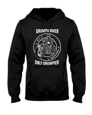 Grumpa Biker Only Grumpier Hooded Sweatshirt tile