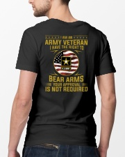 I Am An Army Veteran Your Approval Is Not Required Classic T-Shirt lifestyle-mens-crewneck-back-5