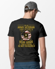 I Am An Army Veteran Your Approval Is Not Required Classic T-Shirt lifestyle-mens-crewneck-back-6