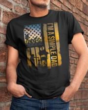 I'm a simple DAD - Inked DAD love Thunderbike Classic T-Shirt apparel-classic-tshirt-lifestyle-26
