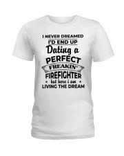 Shirts For Firefighter's Girlfriend-182U1D21108 Ladies T-Shirt thumbnail