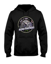 DAD and SON - RIDING PARTNERS for life Hooded Sweatshirt tile