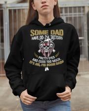 Some Dad Have DD-214 Tattoos Cuss Too Much Hooded Sweatshirt apparel-hooded-sweatshirt-lifestyle-07