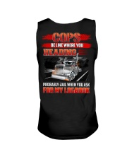 Trucker Tee Shirt - Be like where you heading Unisex Tank thumbnail