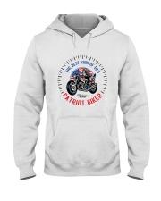 Patriot Biker Dad Black Speedometer  Hooded Sweatshirt front