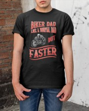 BIKER DAD like a normal Dad but Faster Classic T-Shirt apparel-classic-tshirt-lifestyle-31