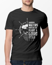 Smooth Waters Have Never Made A Good Sailor  Classic T-Shirt lifestyle-mens-crewneck-front-13