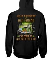 Trucker Halloween Hello Darkness My Old Friend Hooded Sweatshirt back