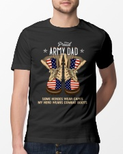 Proud Army Dad - Combat Boots  Classic T-Shirt lifestyle-mens-crewneck-front-13