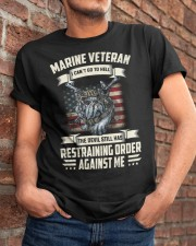 Marine Veteran Can't Go To Hell Classic T-Shirt apparel-classic-tshirt-lifestyle-26