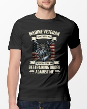 Marine Veteran Can't Go To Hell Classic T-Shirt lifestyle-mens-crewneck-front-13